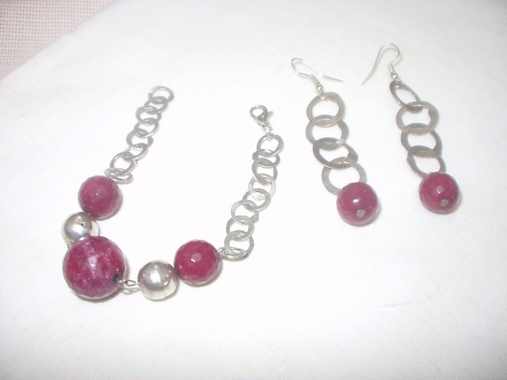 Boucles d'oreilles et Bracelet